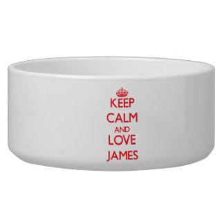 Keep calm and love James Dog Bowl