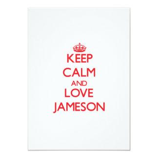 Keep Calm and Love Jameson 5x7 Paper Invitation Card