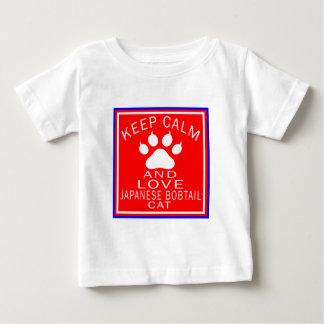 Keep Calm And Love Japanese Bobtail Tee Shirts