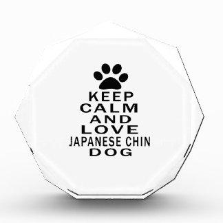 Keep Calm And Love Japanese Chin Dog Acrylic Award