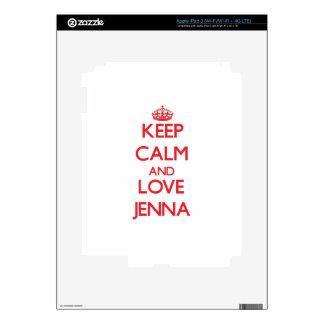 Keep Calm and Love Jenna Decal For iPad 3