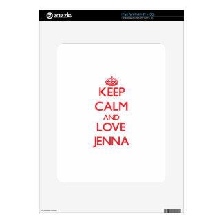 Keep Calm and Love Jenna Skin For The iPad