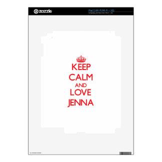 Keep Calm and Love Jenna Skins For The iPad 2