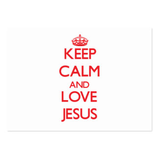 Keep Calm and Love Jesus Business Card Template