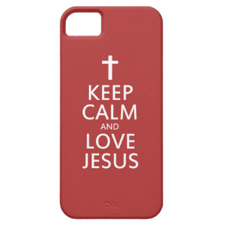 Keep Calm and LOVE Jesus iPhone SE/5/5s Case