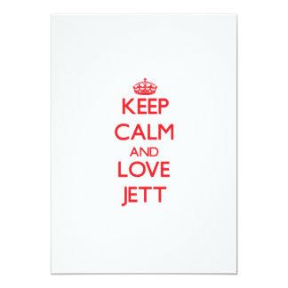 Keep Calm and Love Jett 5x7 Paper Invitation Card