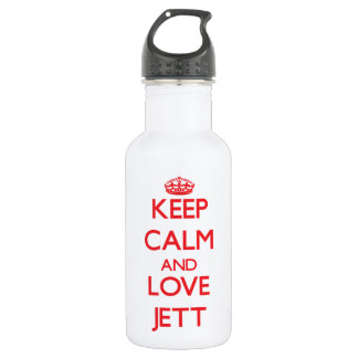 Keep Calm and Love Jett 18oz Water Bottle