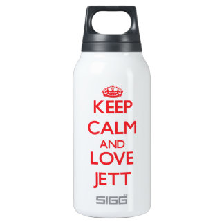 Keep Calm and Love Jett 10 Oz Insulated SIGG Thermos Water Bottle