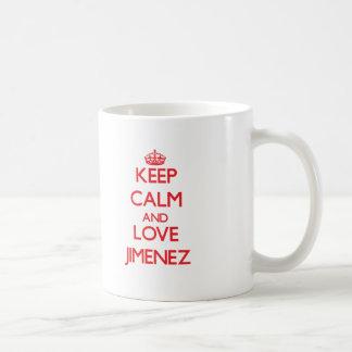Keep calm and love Jimenez Classic White Coffee Mug