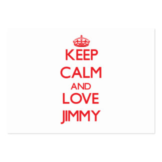 Keep Calm and Love Jimmy Large Business Cards (Pack Of 100)
