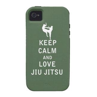 Keep Calm and Love Jiu Jitsu Case-Mate iPhone 4 Cases