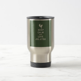 Keep Calm and Love Jiu Jitsu Travel Mug