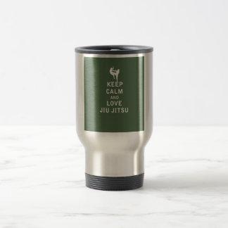 Keep Calm and Love Jiu Jitsu Travel Mug