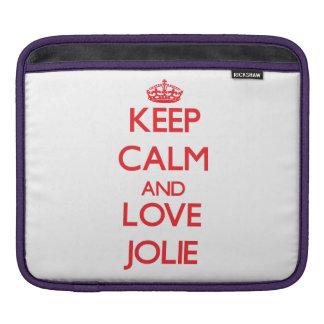 Keep calm and love Jolie iPad Sleeve