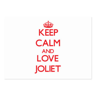 Keep Calm and Love Joliet Large Business Cards (Pack Of 100)