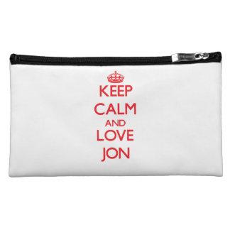 Keep Calm and Love Jon Cosmetic Bag