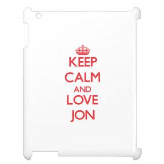 Keep Calm and Love Jon iPad Cases