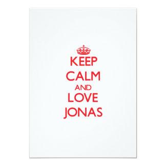 Keep Calm and Love Jonas 5x7 Paper Invitation Card