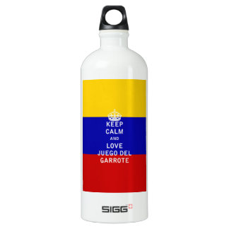 Keep Calm and Love Juego del Garrote Aluminum Water Bottle