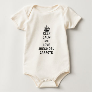 Keep Calm and Love Juego del Garrote Baby Bodysuit