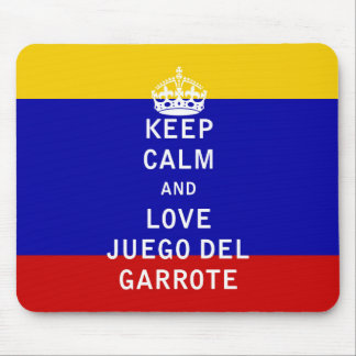 Keep Calm and Love Juego del Garrote Mouse Pad