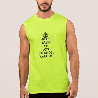 Keep Calm and Love Juego del Garrote Sleeveless Shirt