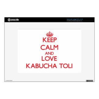 Keep calm and love Kabucha Toli Large Netbook Decal