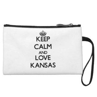 Keep Calm and Love Kansas Wristlet Clutch