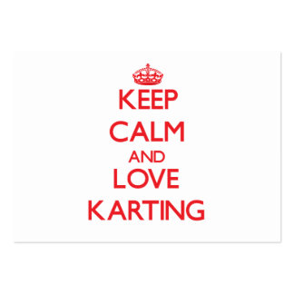 Keep calm and love Karting Business Card Template