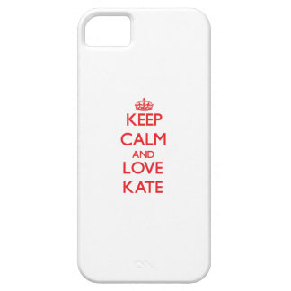 Keep Calm and Love Kate iPhone 5 Cover