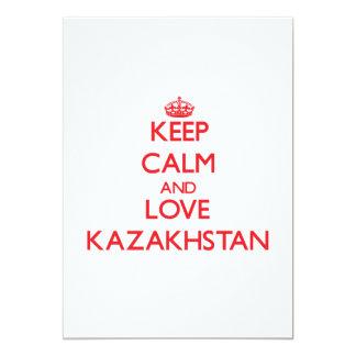 Keep Calm and Love Kazakhstan 5x7 Paper Invitation Card