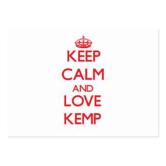 Keep calm and love Kemp Business Card Templates