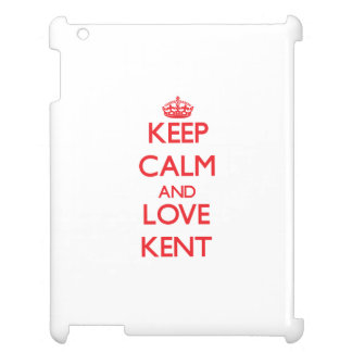 Keep calm and love Kent iPad Cases