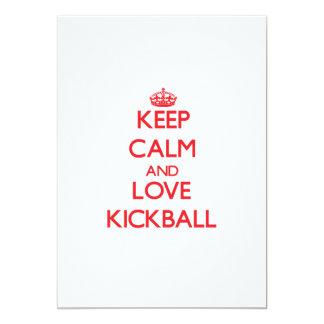 Keep calm and love Kickball 5x7 Paper Invitation Card