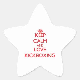 Keep calm and love Kickboxing Star Sticker