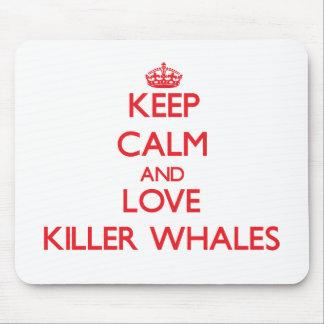 Keep calm and love Killer Whales Mousepad
