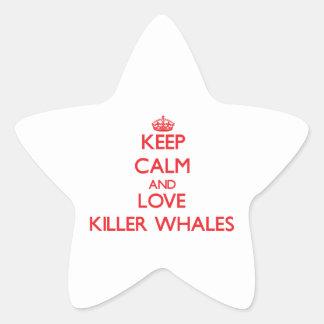 Keep calm and love Killer Whales Star Sticker