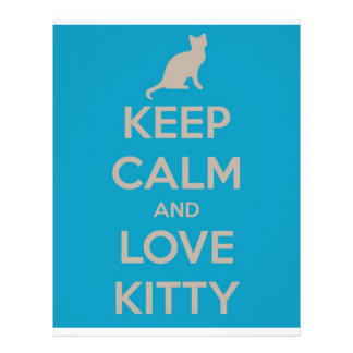 Keep Calm and Love Kitty Personalized Letterhead