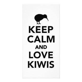 Keep calm and love Kiwis Photo Card