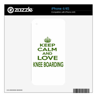 Keep Calm And Love Knee Boarding Skins For iPhone 4