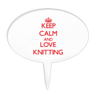 Keep calm and love Knitting Cake Toppers