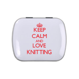 Keep calm and love Knitting Jelly Belly Tins