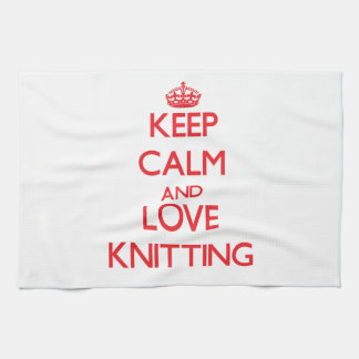Keep calm and love Knitting Towel