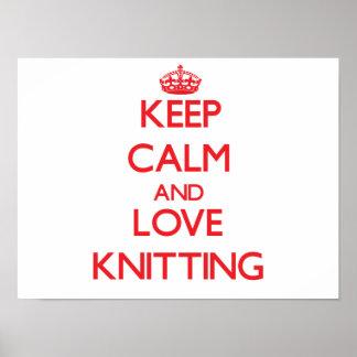 Keep calm and love Knitting Print