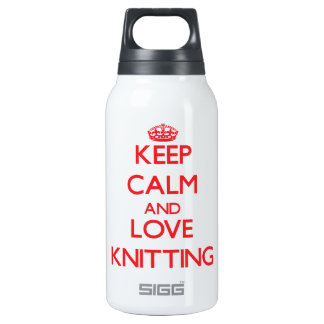Keep calm and love Knitting 10 Oz Insulated SIGG Thermos Water Bottle