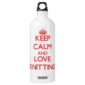 Keep calm and love Knitting SIGG Traveler 1.0L Water Bottle