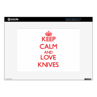 Keep calm and love Knives Large Netbook Decals
