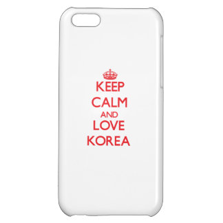 Keep Calm and Love Korea Case For iPhone 5C
