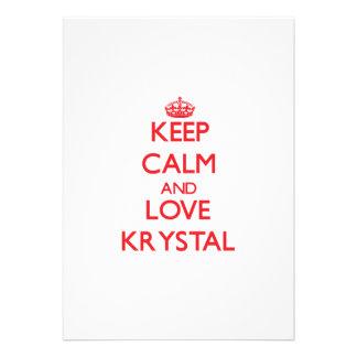 Keep Calm and Love Krystal Invitations