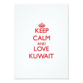 Keep Calm and Love Kuwait 5x7 Paper Invitation Card
